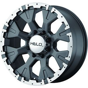 20x9 Gray Helo HE878 8x180 12 Rims Toyo Open Country MT 33x12 50R20LT Tires