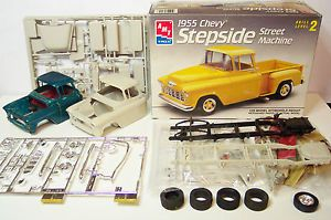 Parts AMT Ertl 1 25 Scale 1955 Chevy Stepside Pickup Parts for 2 Trucks