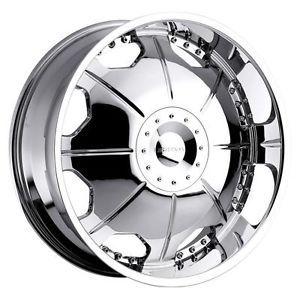 22 inch Strada Mirror Chrome Wheels Rims 6x5 5 LX450 Montero Armada Frontier