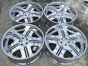"Dub 22"" Chrome Alloy Wheel Rims for Magnum 5 Lug LKQ"