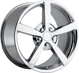 """18 19 """" C6 2009 Gumby Chrome Corvette Fits 2005 2013 Wheels Rims"""