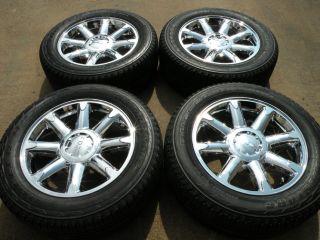"20"" Factory GMC Yukon Chrome Wheels Tires Chevy Tahoe Suburban XL Sierra 19"