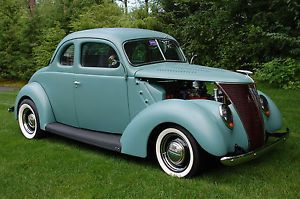 1937 Ford Coupe All Steel with 270 Dodge Hemi Engine Reserve Lowered
