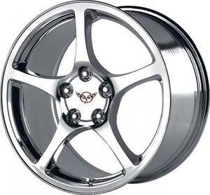 17 inch Chrome Chevrolet Corvette C5 OE Factory Replica Wheels Camaro Firebird