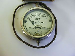 Vintage  Roebuck 50s Automobile Amp Pocket Meter Tester Old Car Auto Gauge