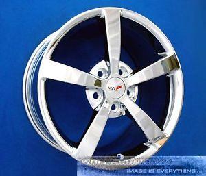 Corvette C6 Gumby 18 19 inch Chrome Wheels Rims Vette