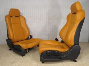 Nissan 350Z Burnt Orange Leather Bucket Seats 350 Z Seat Roadster Coupe Touring