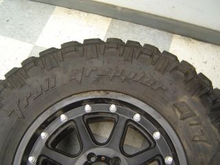 "07 13 Jeep Wrangler Rubicon Aftermarket Set of 3 Wheels Tires XD 17"" Black"