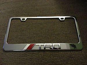 ... TRD Toyota 3D Emblem License Plate Frame Chrome Alloy Die Cast ...