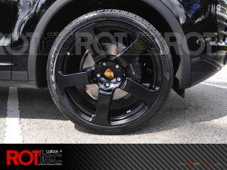 "Rottec 22"" Wheels Porsche Rinn Style Rims Cayenne VW Touareg Audi Q7 Black"