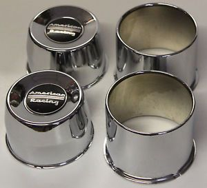 4 Blems American Racing Wheels Center Caps 6 Lug Chevy Toyota Truck Short 4WD