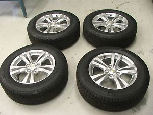 2010 2013 Chevy Equinox Wheels and Tires 9597708 17x7 Silver Aluminum