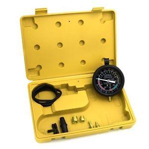 Gauge Test Kit Vacuum Fuel Pump Pressure Carburetor Valve Car Truck Case New