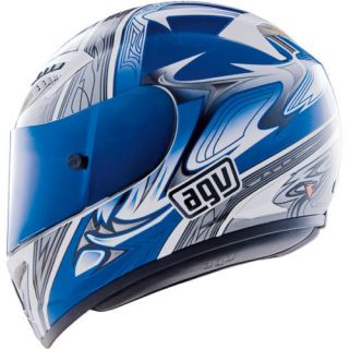 Agv T 2 Shade Motorcycle Helmet White Blue