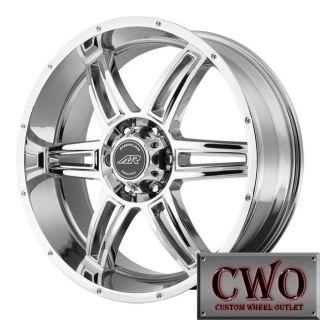 18 18x8 Chrome American Racing AR890 Wheels Rims 5x114 3 0mm Offest
