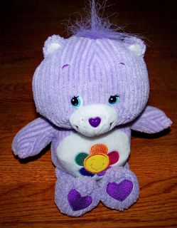 "Care Bears 10"" Plush Purple Flower Harmony Bear Stuffed Animal Care Bear"