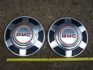 2 Vintage GMC Pick Up Truck Hub Caps Wheel Covers
