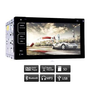 Touch Screen 2 DIN Universal Car CD DVD  Receiver Player Bluetooth Radio USB