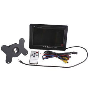 7inch TFT LCD Color Car Rearview Mirror Monitor Remote Control Low Power Energy