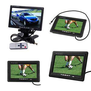 7 inch LCD Car Rear View Camera Monitor Support Rotating The Screen 2 AV Inputs