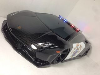 Custom Cop Lamborghini Painted 1 10 RC Touring Car Body RC Drift Car Body