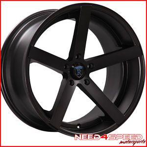 "20"" Infiniti G35 Sedan Rohana RC22 Concave Black Staggered Wheels Rims"