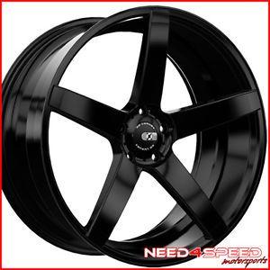 "20"" Infiniti G37 G37S Coupe XO Miami Concave Matte Black Staggered Rims Wheels"
