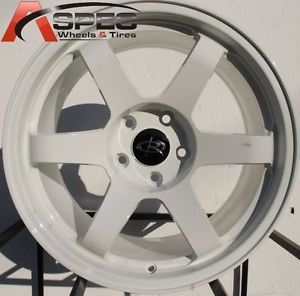 17x9 Rota Grid Wheels 5x100 White Rims 35mm Fits Scion TC 2005 2010