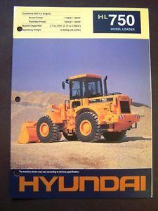 Hyundai HL 750 Wheel Loader Brochure Specs Book