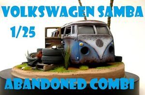 67 Volkswagen VW Van Combi Weathered Rat Rod Junkyard 1 25 Diorama Base Parts