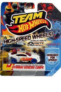 2012 Team Hot Wheels High Speed Wheel Hyundai Genesis Coupe with Blue Wheels