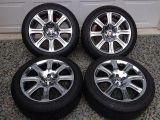 "2004 2006 Jaguar XJ8 Factory 18"" Chrome Wheels Continental Tires"