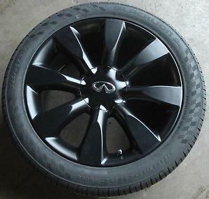 "Infiniti M35 M45 18 inch Black Wheels with New Tires M 35 45 Q45 18"""