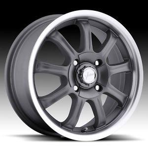 "16"" inch 4x100 4x4 5 Gunmetal Machined Wheels Rims 4 Lug Mazda Honda Nissan"