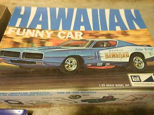 MPC Hawaiian Dodge Charger Model Funny Car Kit Junkyard Parts