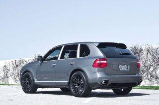 """22"""" MRR HR6 Matte Black Concave Wheels Rims Fits Porsche Cayenne s Turbo"""