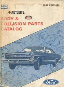1964 65 66 67 Ford Galaxie Body Parts and Adjust Book