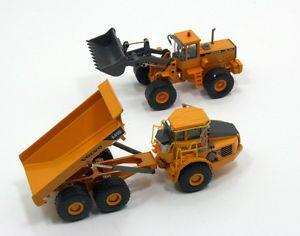 WC Lot 2 Motorart Volvo A40D Articulated Dump Truck L150C Wheel Loader 1 87 HO