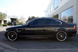 "20"" MRR GT1 Black Staggered Wheels Rims Fits BMW E46 M3"