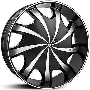 "24"" Wheels Tires Rims Starr 569 B Saab Saturn Toyota Volkswagen Volvo Infiniti"
