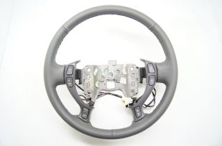 Cadillac 00 05 DeVille Seville Steering Wheel DK Grey Leather w Audio Temp Call