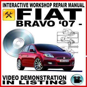 Fiat Bravo 2007 Onwards Workshop Service Repair Manual Interactive Elearn