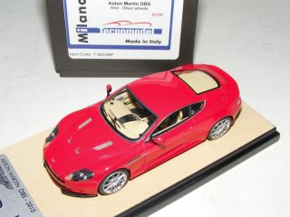 1 43 Tecnomodel Aston Martin DBS in Bright Red with Silver Wheel Limited 20 Pcs