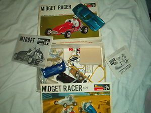 1 24 Slot Car Midget Racer Box Parts Corvette Monogram Cox Revell Strombecker