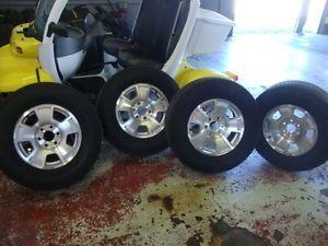 "Used Chevrolet Tahoe 17"" Wheels Rims Tires Suburban Sierra Yukon Avalanche"