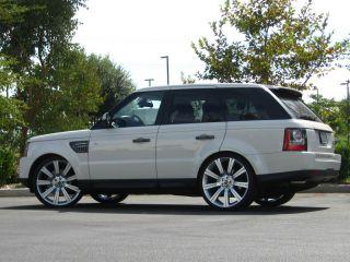 "24"" Land Rover Range Rover Wheels Rims Hyper Silver Stormer LR3 LR4 2012 2011 10"