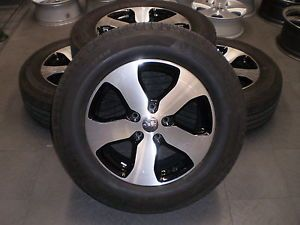 """9105 Jeep Grand Cherokee 18"""" Factory OE Wheels Rims and Tires Michelin Black"""