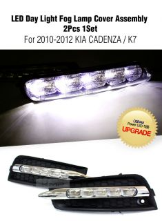 LED Day Light Fog Lamp Cover Assembly 2pcs 1set for 2010 2012 Kia Cadenza K7