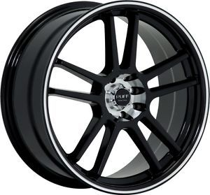 "18"" inch 5x105 5x4 5 Black Machined Wheels Rims 5 Lug Chevy Cruze Sonic LS Lt"