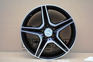 "18"" Mercedes Benz AMG Wheels Rims E350 Black Machine Face E Class E320 E350"